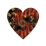 Mary Jane burgundy black and gold bedsheets  Heart Magnet