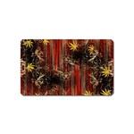 Mary Jane burgundy black and gold bedsheets  Magnet (Name Card)
