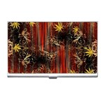 Mary Jane burgundy black and gold bedsheets  Business Card Holder