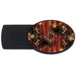 Mary Jane burgundy black and gold bedsheets  USB Flash Drive Oval (2 GB)