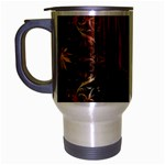 Mary Jane burgundy black and gold bedsheets  Travel Mug (Silver Gray)