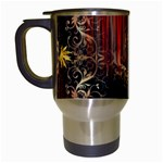 Mary Jane burgundy black and gold bedsheets  Travel Mugs (White)