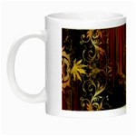 Mary Jane burgundy black and gold bedsheets  Night Luminous Mugs