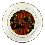 Mary Jane burgundy black and gold bedsheets  Porcelain Plates