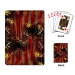 Mary Jane burgundy black and gold bedsheets  Playing Cards Single Design