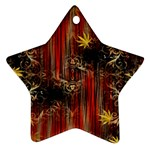 Mary Jane burgundy black and gold bedsheets  Star Ornament (Two Sides)