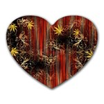 Mary Jane burgundy black and gold bedsheets  Heart Mousepads
