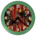 Mary Jane burgundy black and gold bedsheets  Color Wall Clock