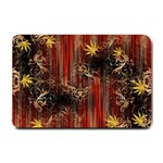 Mary Jane burgundy black and gold bedsheets  Small Doormat