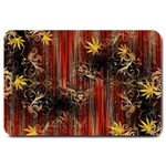 Mary Jane burgundy black and gold bedsheets  Large Doormat