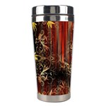 Mary Jane burgundy black and gold bedsheets  Stainless Steel Travel Tumblers