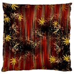 Mary Jane burgundy black and gold bedsheets  Large Flano Cushion Case (One Side)