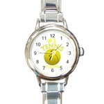 #1 TENNIS PLAYER ROUND ITALIAN CHARM WATCH