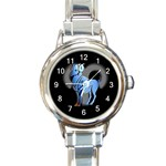 ARIES ZODIAC SIGN (MAR 21-APR 19) ROUND ITALIAN CHARM WATCH