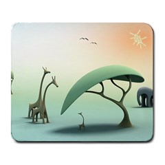 Africa elephants and giraffes Large Mousepad by jalbisnes