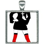 sexy nun halloween costume  Square Necklace