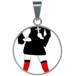 sexy nun halloween costume  25mm Round Necklace
