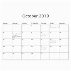 Wssdca Calendar 2019 Draft By Registrarwssdca   Wall Calendar 11  X 8 5  (12 Months)   Udqsyuj1g59z   Www Artscow Com Oct 2019