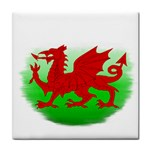 Welsh Dragon Wales Tile Coaster