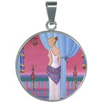 Palm Beach Perfume Art Collection 30mm Round Necklace