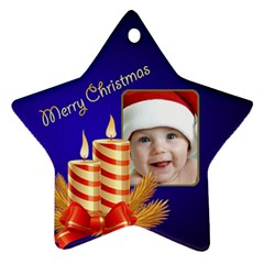 Jane My Little Star 2 Ornament (2 Sided) By Deborah   Star Ornament (two Sides)   20ohp3f9vtyb   Www Artscow Com Front