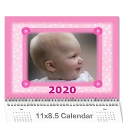 Jane Pretty In Pink 2019 (any Year) Calendar By Deborah   Wall Calendar 11  X 8 5  (12 Months)   5aac15fo53zh   Www Artscow Com Cover