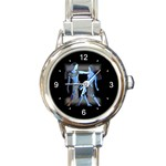 GEMINI ZODIAC SIGN (MAY 21-JUN 20) ROUND ITALIAN CHARM WATCH