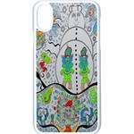 Supersonic volcano snowman Apple iPhone XS Seamless Case (White)