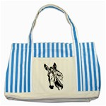 Donkey head Striped Blue Tote Bag