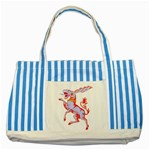 Herald Donkey Striped Blue Tote Bag