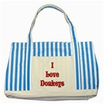 Love Donks Striped Blue Tote Bag
