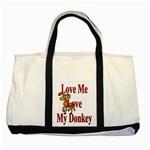 Love my donkey Two Tone Tote Bag