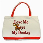 Love my donkey Classic Tote Bag (Red)
