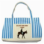 Mammoth Striped Blue Tote Bag