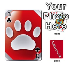 Cansta Cards1 By Karen Van   Playing Cards 54 Designs (rectangle)   B7s2q4lsrjkb   Www Artscow Com Front - Club3