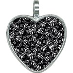 Fancy Floral Pattern Heart Necklace