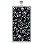Fancy Floral Pattern Rectangle Necklace