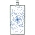 Spirograph Pattern Drawing Rectangle Necklace