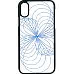Spirograph Pattern Drawing Apple iPhone XS Seamless Case (Black)