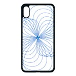Spirograph Pattern Drawing Apple iPhone XS Max Seamless Case (Black)