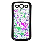 Sketchlines02 Samsung Galaxy S3 Back Case (Black)