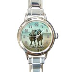 HORSE RACE JOCKEY ROUND ITALIAN CHARM WATCH