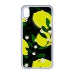 black lemons iPhone XR Seamless Case (White)