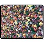 Scattered leaves Fleece Blanket (Medium)