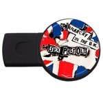 anarchy-in-the-uk USB Flash Drive Round (4 GB)