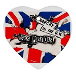 anarchy-in-the-uk Heart Ornament (Two Sides)