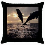 bottle nose Throw Pillow Case (Black)