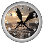 bottle nose Wall Clock (Silver)