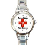 AMERICAN RED CROSS ROUND ITALIAN CHARM WATCH
