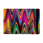 Multicolored Wave Distortion Zigzag Chevrons 2 Background Color Solid Black Apple iPad Mini Flip Case